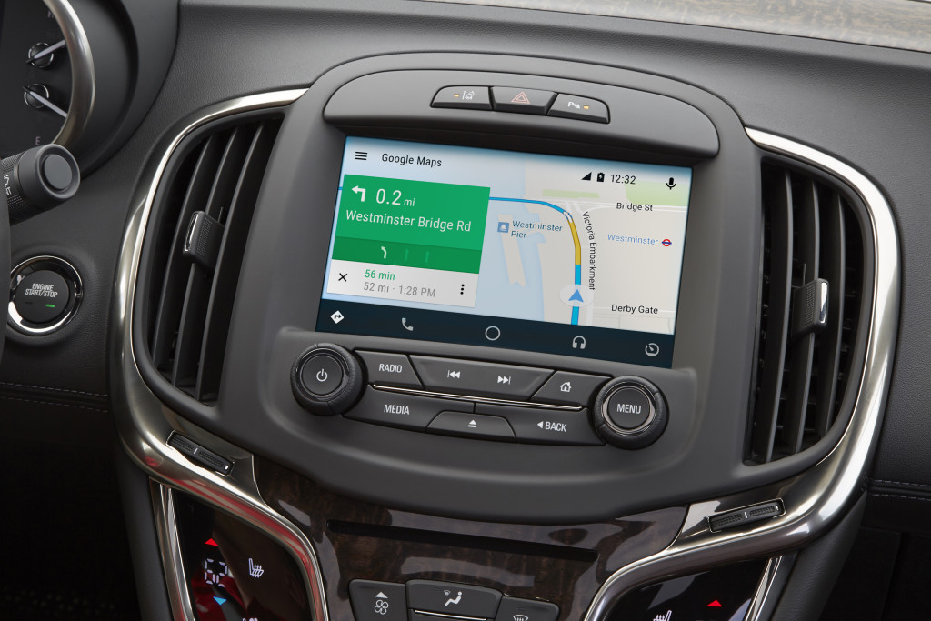2016 Buick Regal, LaCrosse Get Android Auto Update. © General Motors.