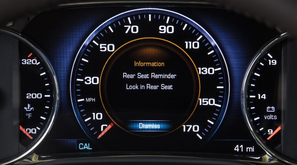 Rear Seat Reminder alert. © General Motors.